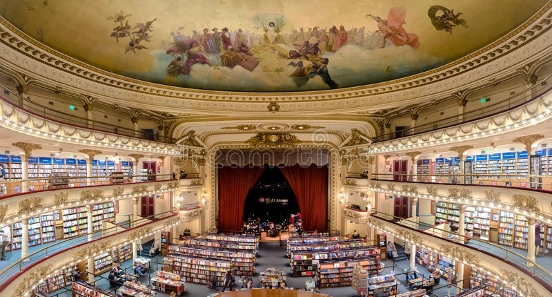 The famous bookshop El Ateneo Grand Splendid Buenos Aires Aregtina royalty free stock photo