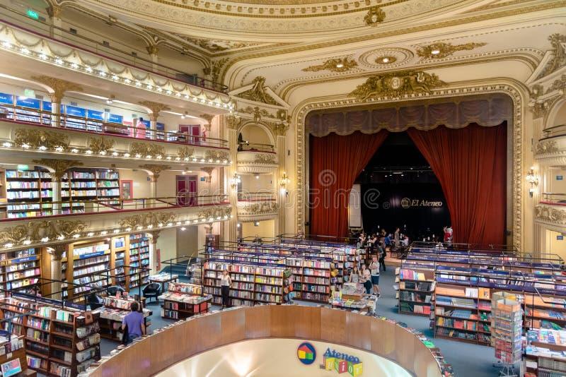 The famous bookshop El Ateneo Grand Splendid Buenos Aires Aregtina royalty free stock photos