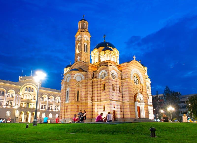 Famous Bosnia Church. Cathedral of Christ the Saviour, Banja Luka. Bosnia and Herzegovina royalty free stock photography