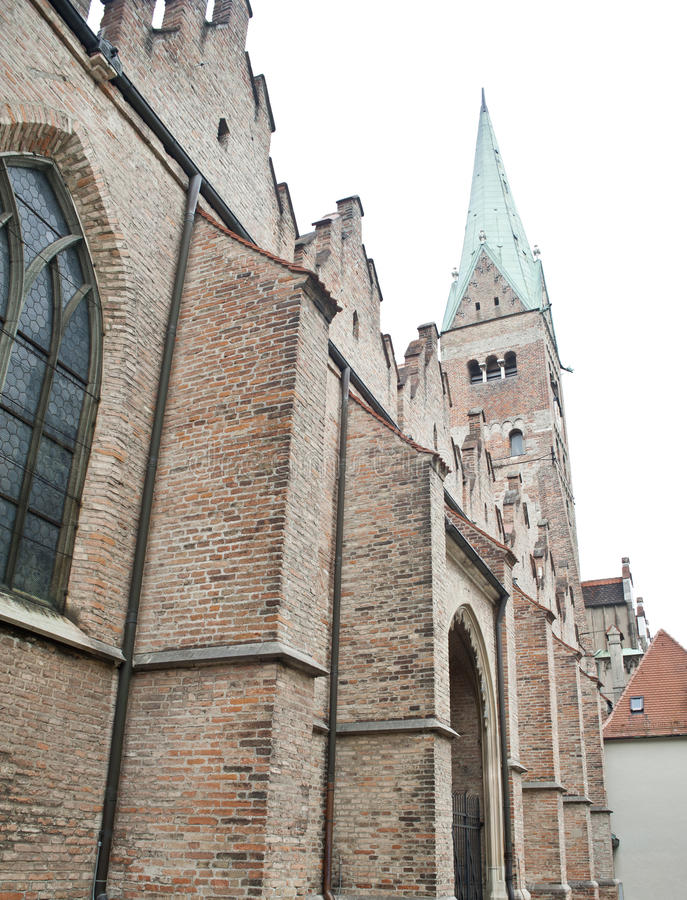 Download Famous Brick Gothic Church In Augsburg Stock Image - Image: 23112645