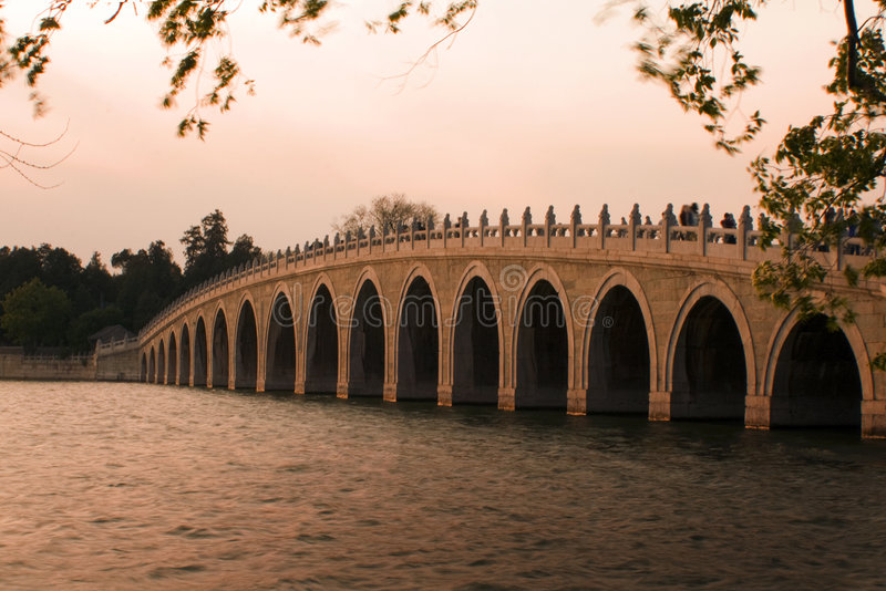 Download Famous Bridge In Beijing, At Sunset Stock Photo - Image: 9159194