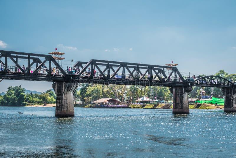 The famous Bridge River Kwai in Kanchanaburi, Thailand. royalty free stock photos