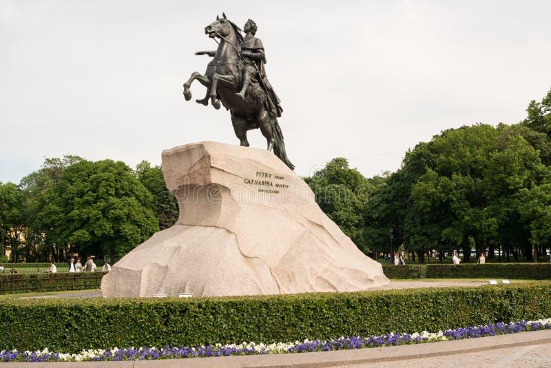 Download Famous Bronze Horseman Of St. Petersburg Stock Photo - Image of famous, pedestal: 74234580