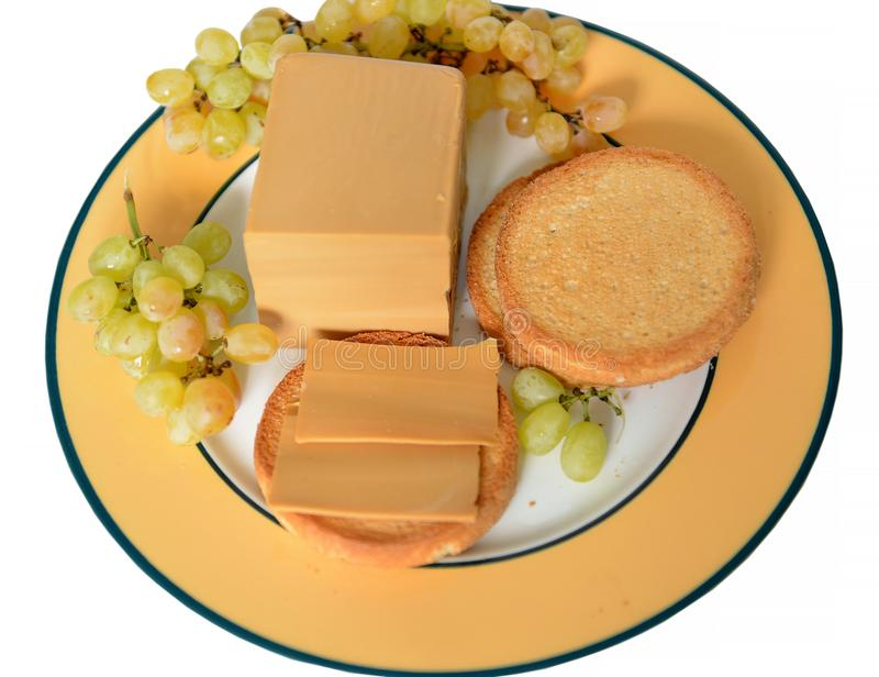 Famous Brunost brown cheese is common, Norwegian name for mysost royalty free stock image