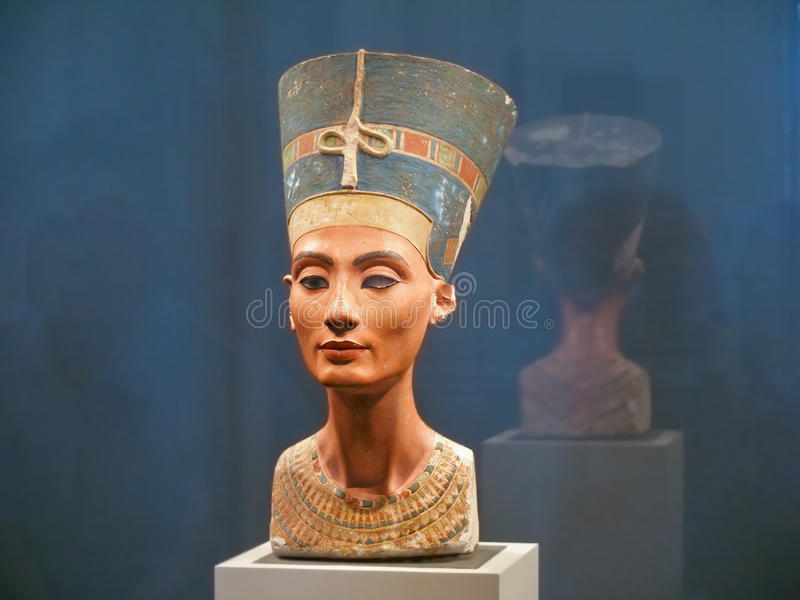 Famous bust of Queen Nefertiti royalty free stock images