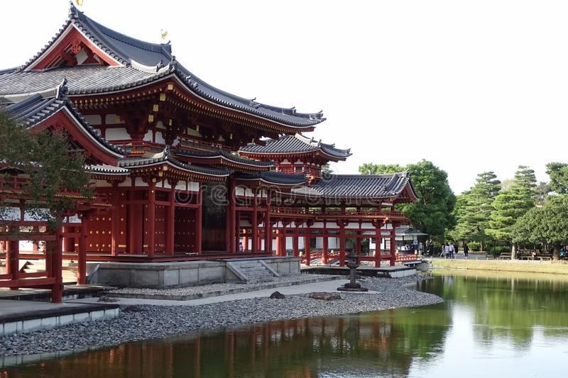 Famous Byodo-in Temple, a UNESCO World Heritage Site located in Uji, south of Kyoto stock photography