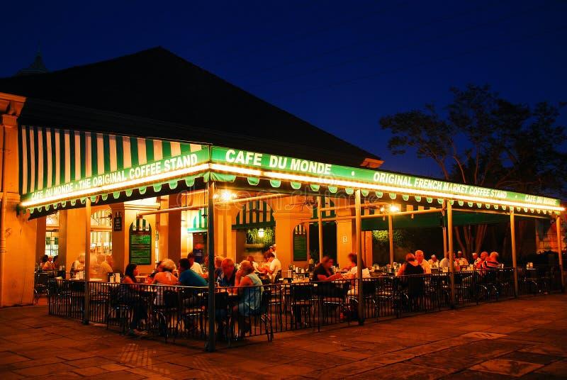 Famous Cafe du Monde, New Orleans foto de archivo