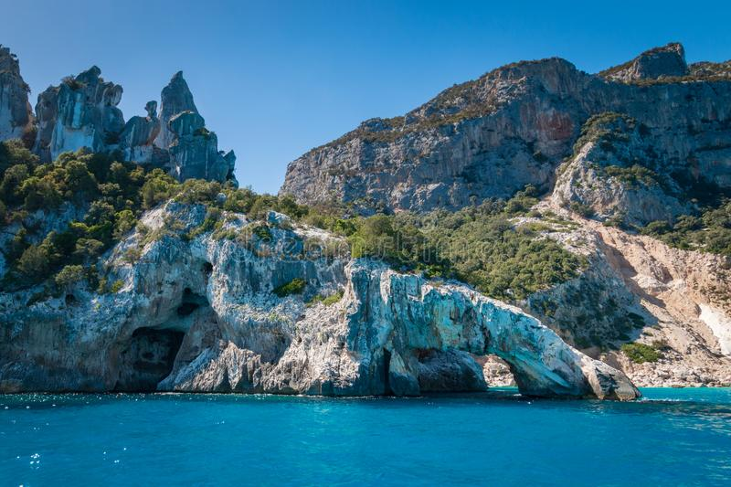 Cala Goloritze beach, Italy royalty free stock photos