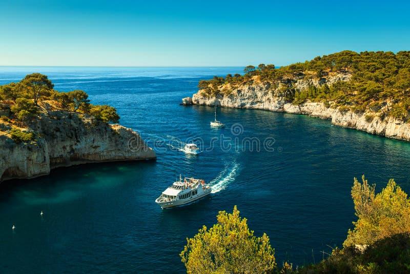 Famous Calanques DE Port Pin in Cassissen, dichtbij Marseille, Frankrijk royalty-vrije stock afbeeldingen