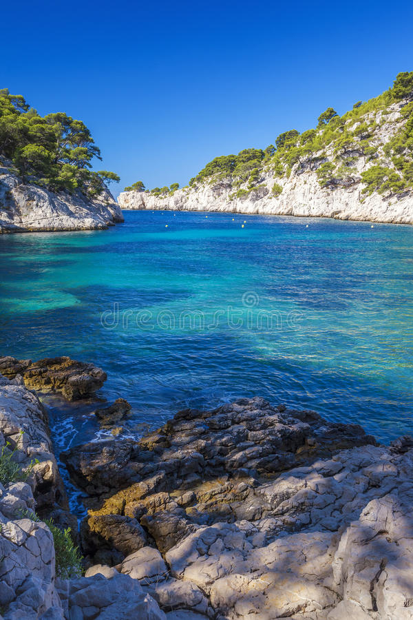 Famous calanques of Port Pin royalty free stock images