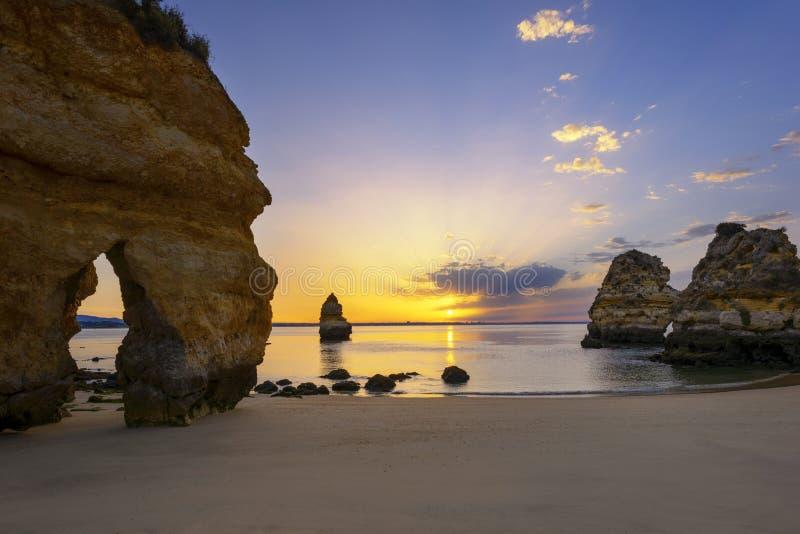 Famous Camilo beach at sunrise royalty free stock photography