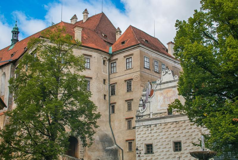 The famous castle of castle of Cesky Krumlov in South Bohemia, Czech Republic royalty free stock photography