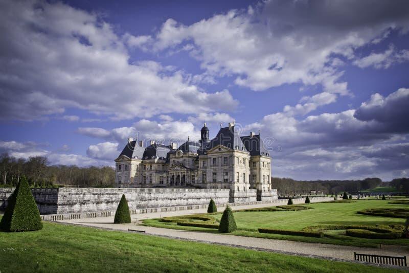 The famous castle Vaux le Vicomte royalty free stock images