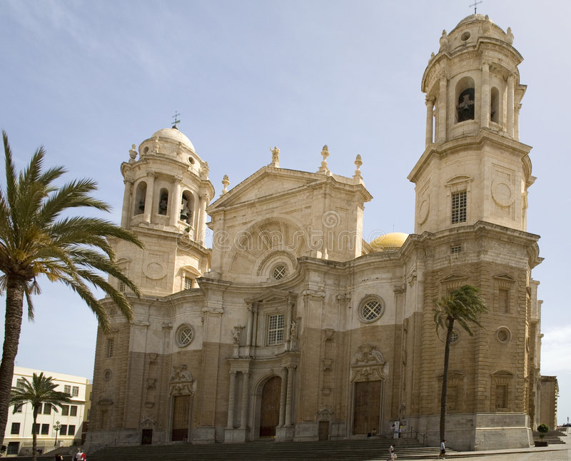 Famous cathedral in Cadiz. royalty free stock photo