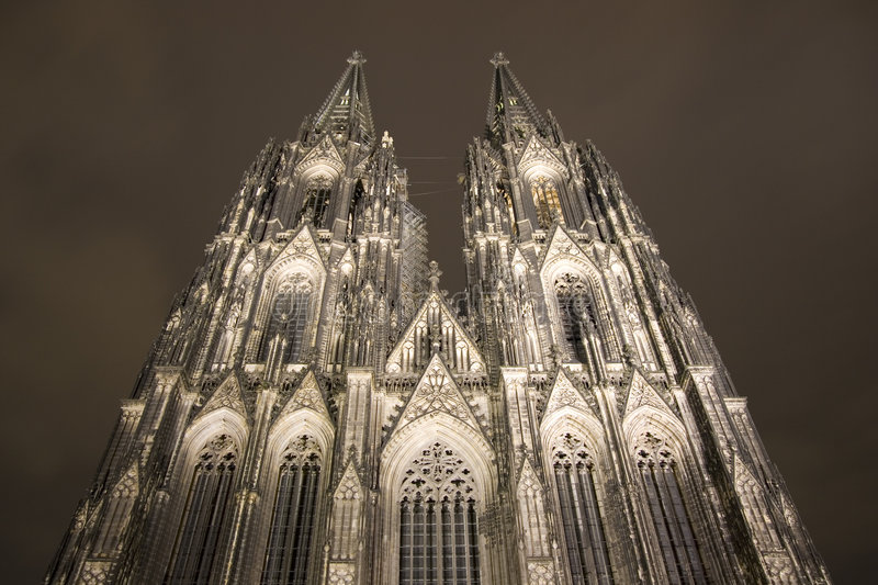 The famous cathedral of Cologne stock photo