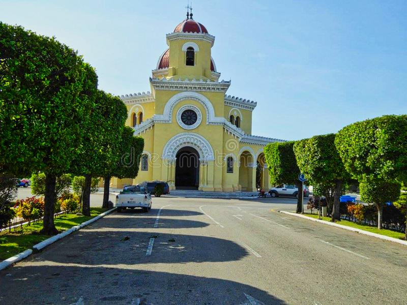 the famous cemetery in cuba at summer royalty free stock images