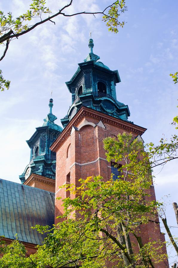 Famous church in Gniezno, Poland. Famous church in Gniezno - Poland stock photos