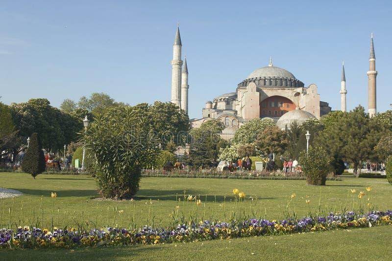 Famous church of Saint Sophia in Istambul royalty free stock photos