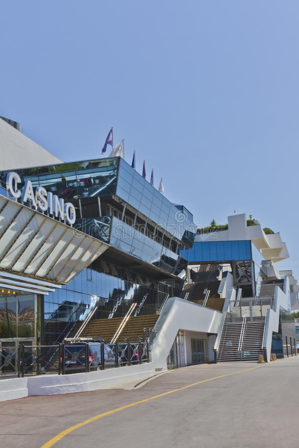 Famous Cinema Palace with Casino, Cannes, France royalty free stock image