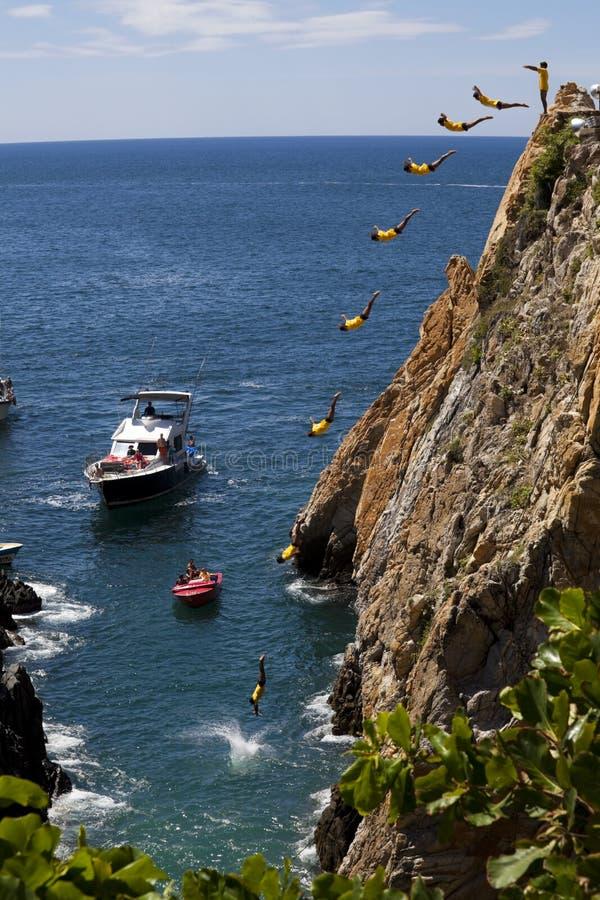 Famous Cliff Divers stock photos