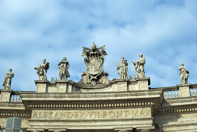 Famous Colonnade Of St. Peter S Basilica Royalty Free Stock Photography