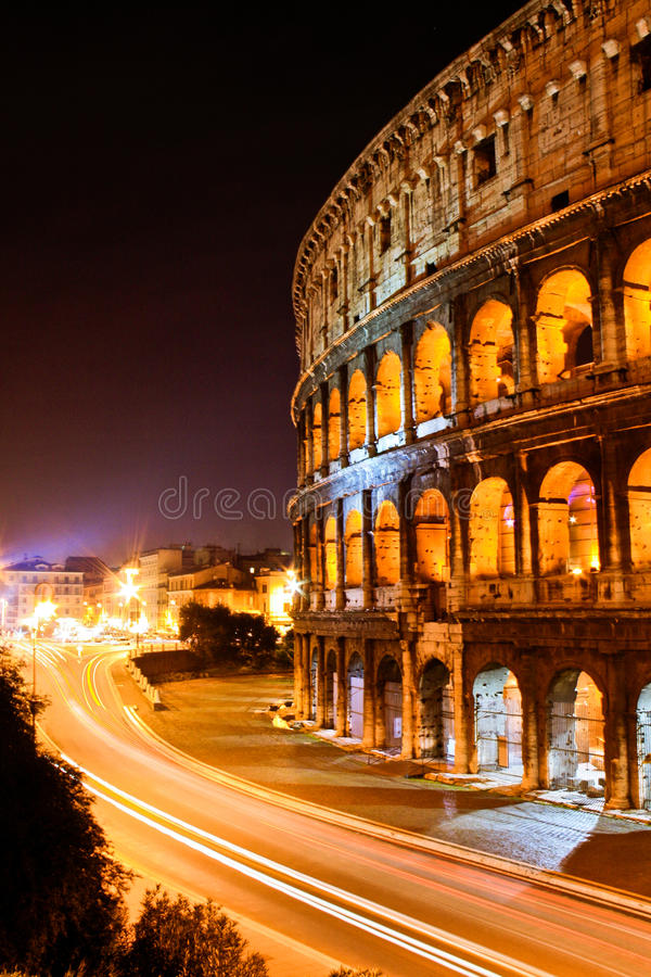 The Famous Colosseum Night View stock photo