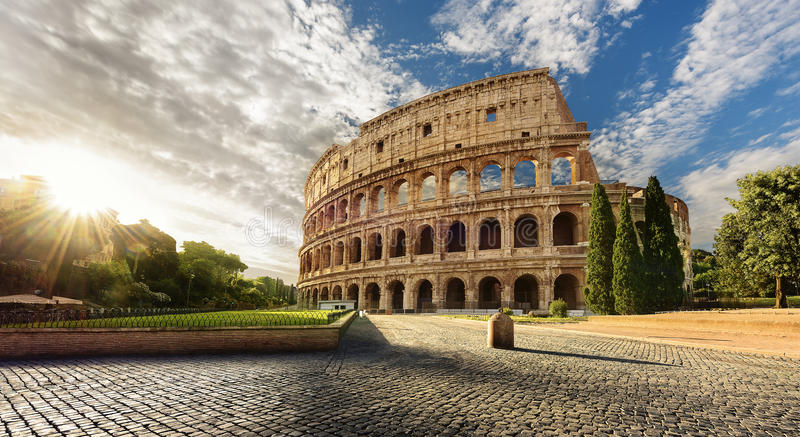 Famous Colosseum in Rome city Italy royalty free stock photo