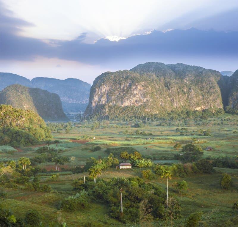 Valley de Vinales, Pinar del Rio, Cuba. Famous Cuba farmland tobacco area, Valley de Vinales, Pinar del Rio, Cuba royalty free stock photography