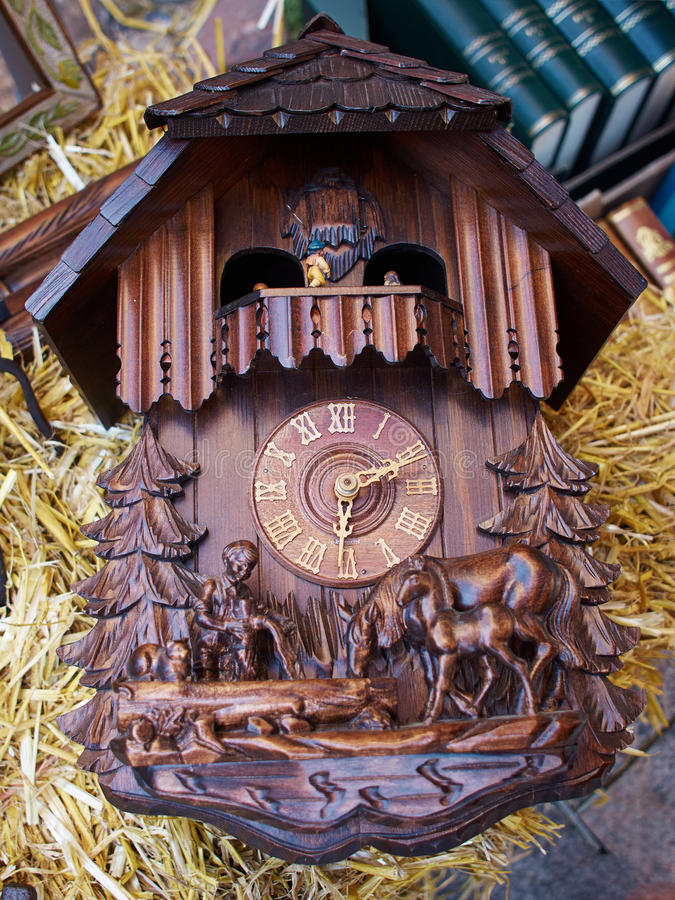 download famous cuckoo clock from the black forest germany stock photo image