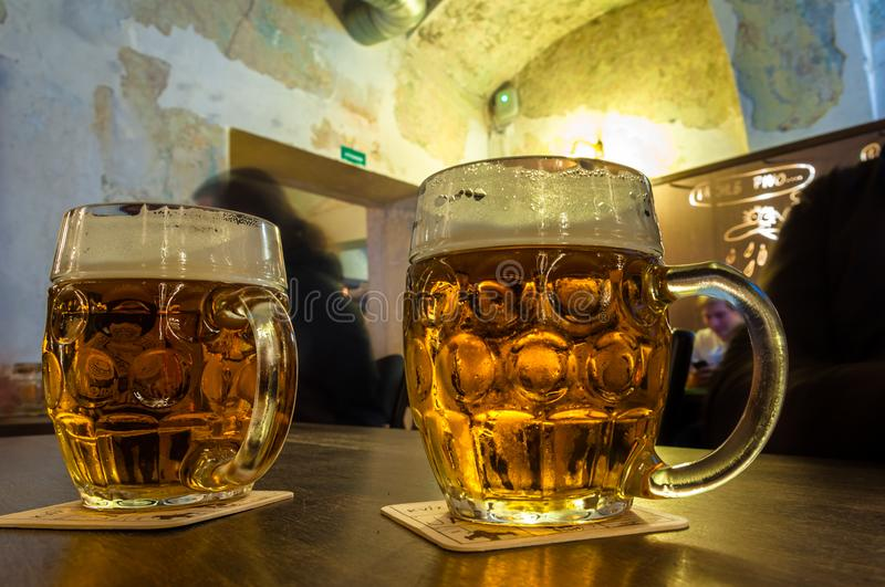 The Famous Czech Beer Pilsner. royalty free stock photos