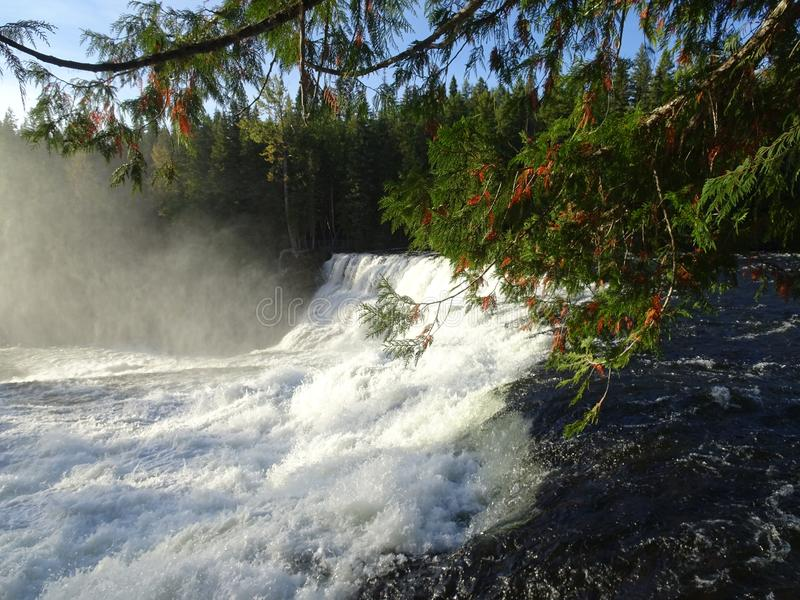 Dawson Falls in Wells Gray Provincial Park, Clearwater, Canada stock photo