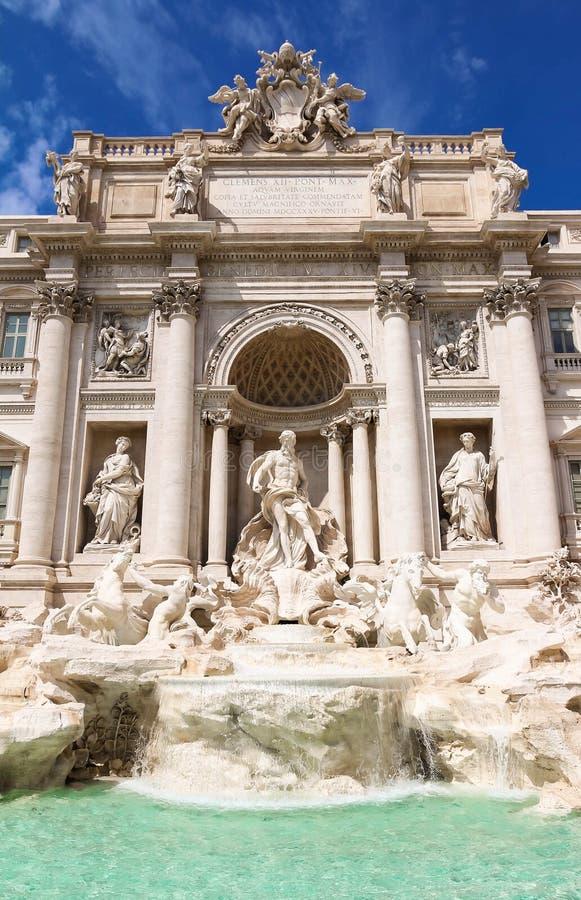 The famous de Trevi Fountain, Rome, Italy. royalty free stock image