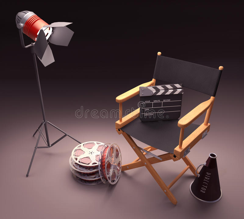 Famous Director royalty free illustration