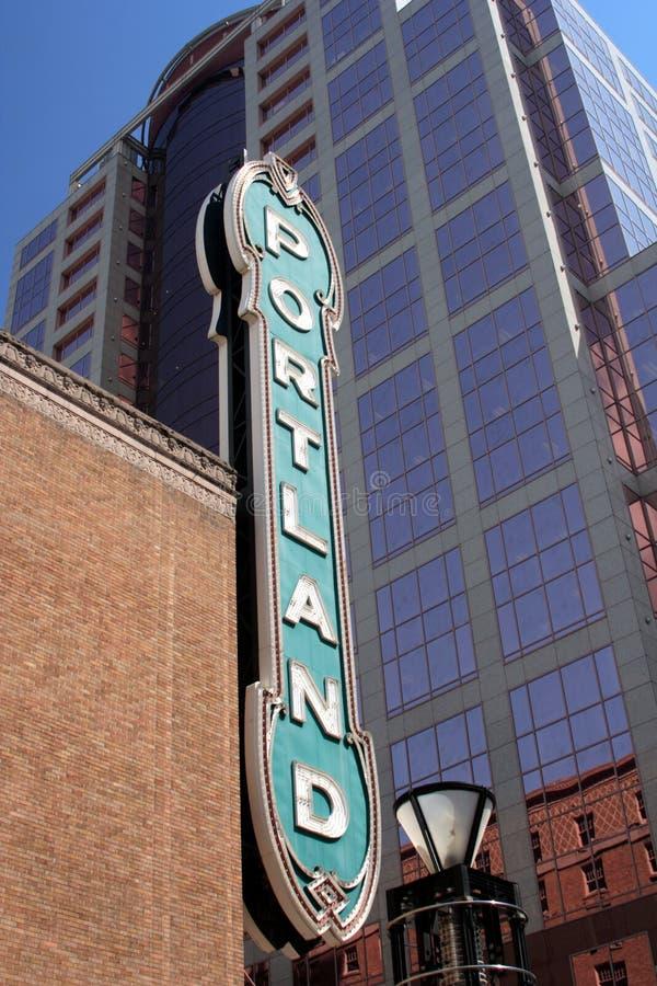 Famous downtown Portland Orego stock photo