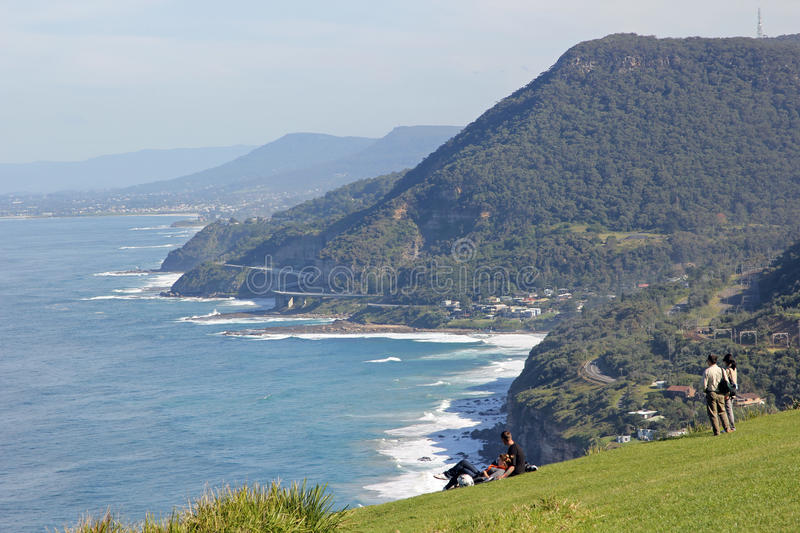 Famous drive at scenic coastline view from lookout royalty free stock photos