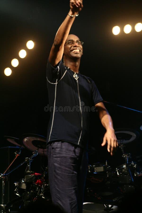 Drummer artist Omar Hakim royalty free stock images