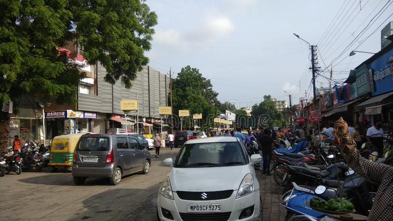 Famous 56 dukaan or 56 shops of Indore India royalty free stock photo