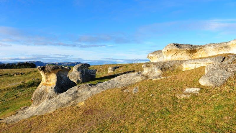 Famous Elephant Rocks in New Zealand stock photography