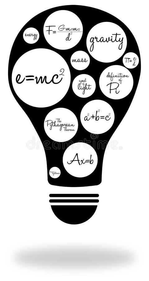 Download Famous Equations stock illustration. Image of great, definitions - 28371940