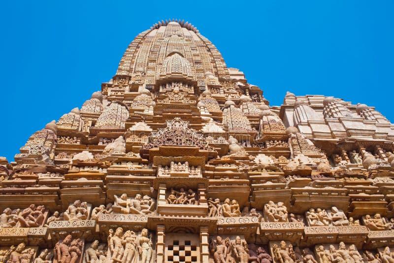 Famous erotic temple in Khajuraho, India royalty free stock photography