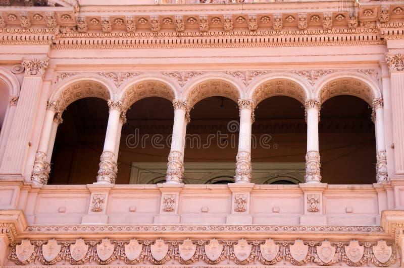 Famous Evita Balcony, Buenos Aires stock photography