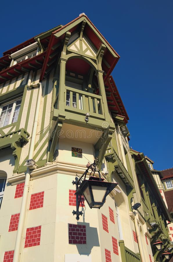 Famous five star hotel - Le Normandy hotel. A traditional architecture of the building. Deauville, Calvados department of Normandy. France stock photos