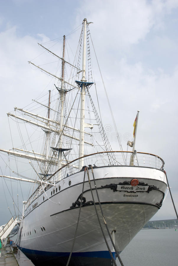 Famous german sailing ship Gorch Fock royalty free stock image