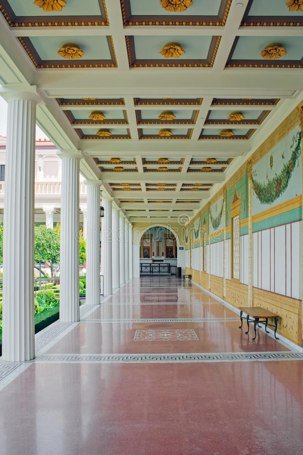 Famous Getty Villa stock images