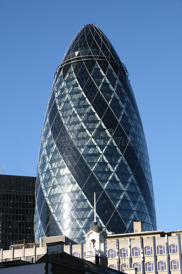 Download The Famous Gherkin In London Stock Photo - Image of london, offices: 8273392