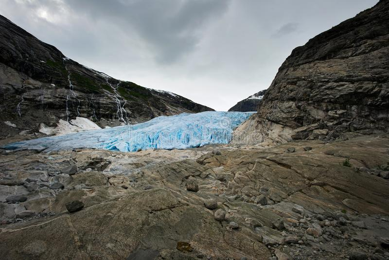 Famous glacier in Scandinavia