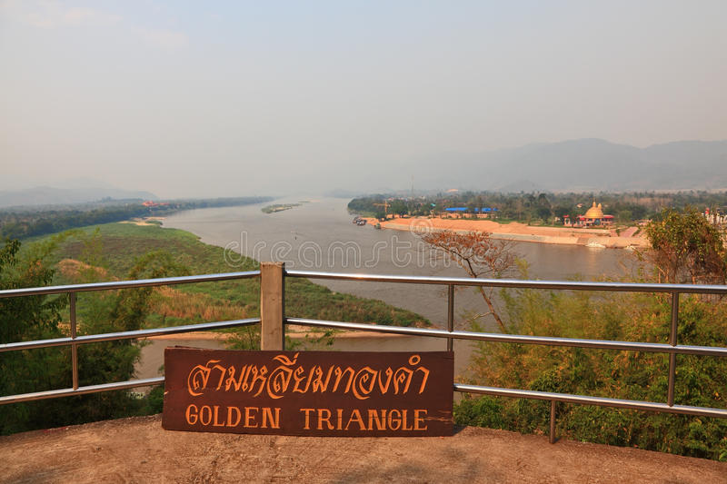 The famous Golden Triangle the Mekong River. The famous Golden Triangle. Place on the Mekong River, which borders three countries - Thailand, Myanmar and Laos stock photography