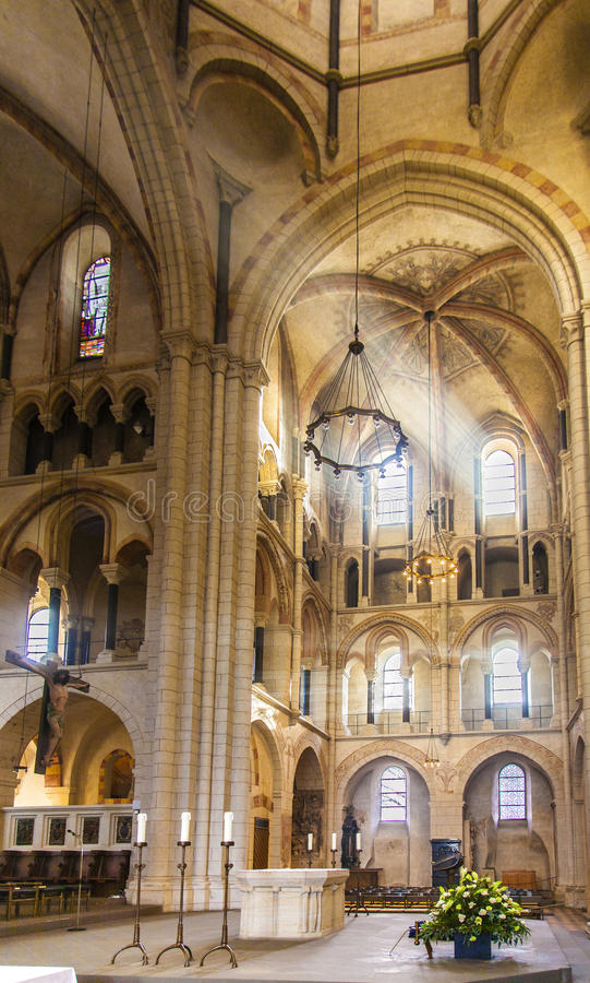 Free Famous Gothic Dome In Limburg From Inside Stock Image - 45197511