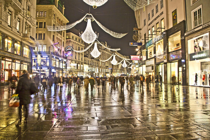 Marvelous Download Famous Graben Street In Vienna With Christmas Decoration By Night  Editorial Photo   Image Of