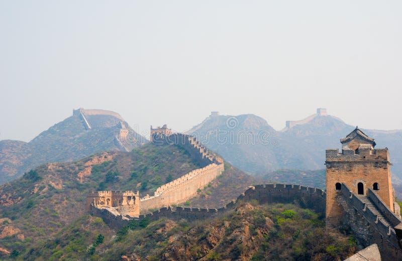 Famous great wall at Simatai stock photos